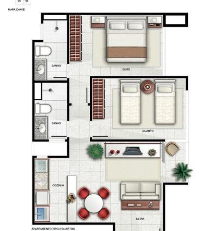 Apartamento de 1 dormitório em Taguatinga Centro, Taguatinga - DF