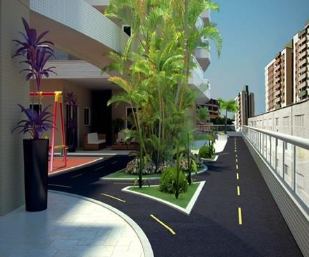 Apartamento de 1 dormitório em Boqueirão, Praia Grande - SP