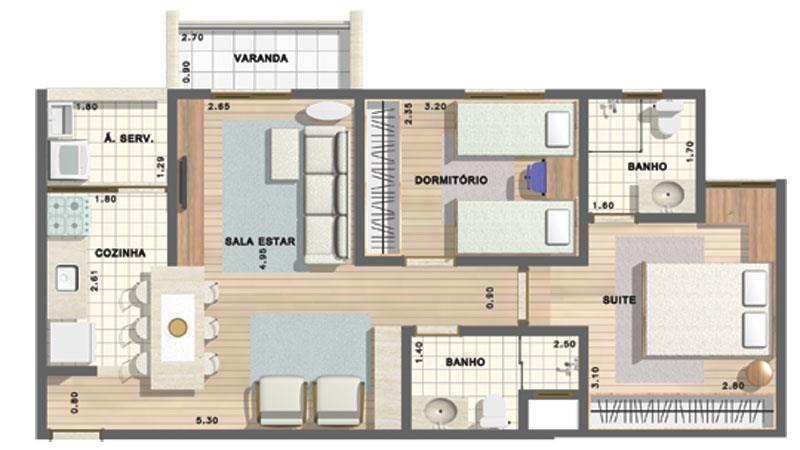Imobiliária Compare - Apto 2 Dorm, Vila Mazzei - Foto 8