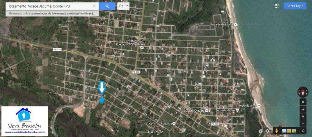 Lote esquina Jacumã-600m²