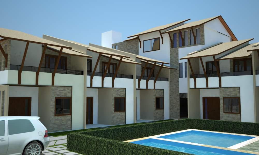 Casa 2 dormitórios, sendo 1 suíte, vista mar e piscina em condomínio fechado.