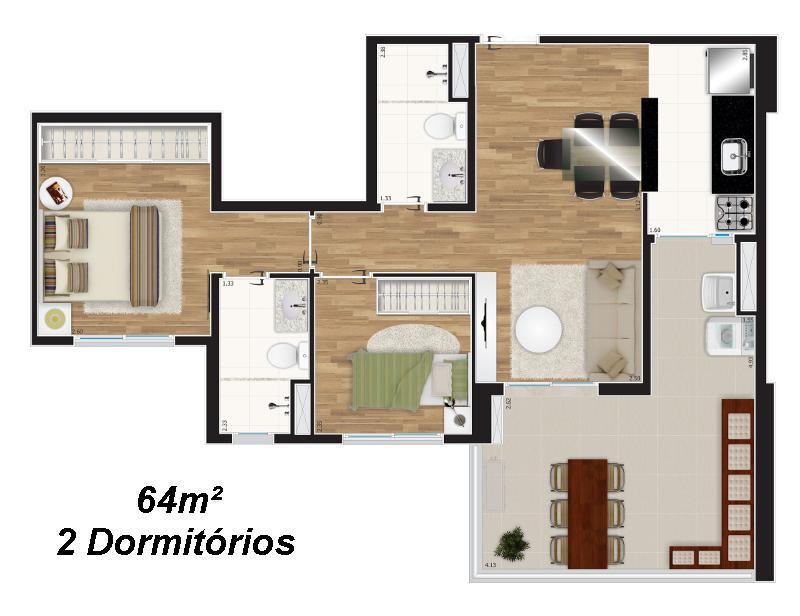 Apto 2 Dorm, Tatuapé, São Paulo (AP2557) - Foto 10