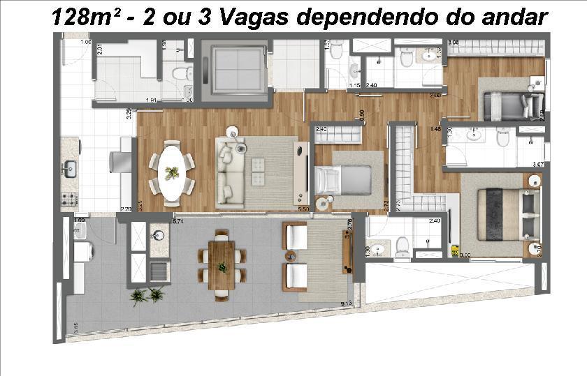 Apto 3 Dorm, Brooklin Paulista, São Paulo (AP2535) - Foto 16