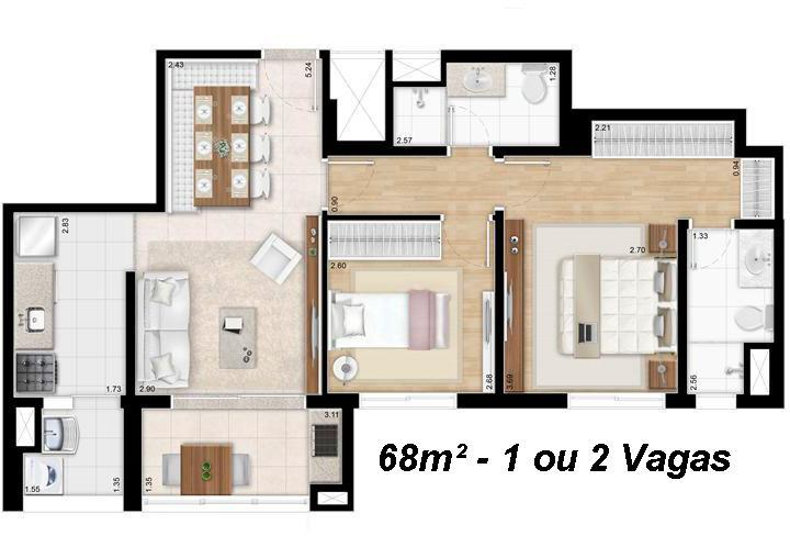 Apto 2 Dorm, Brooklin Paulista, São Paulo (AP2536) - Foto 6