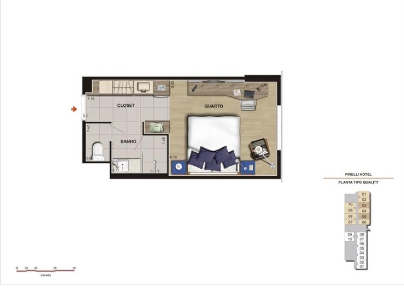 Loft 2 Dorm, Vila Homero Thon, Santo André (LF0002) - Foto 3