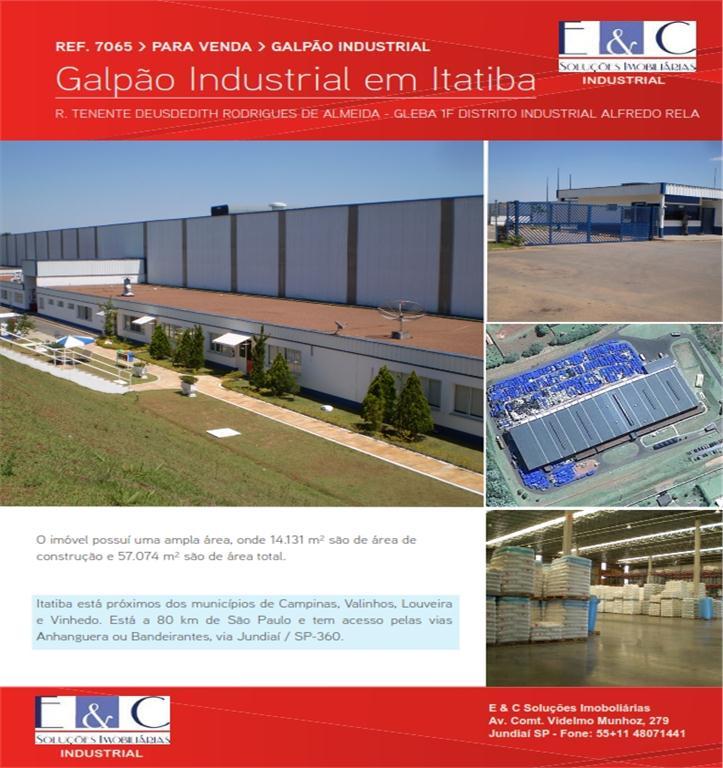 Galpão industrial para venda e locação, Distrito Industrial  de E&C Soluções Imobiliárias.'