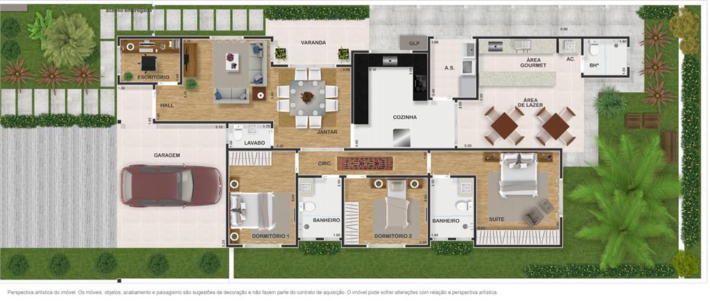 Casa 3 Dorm, Condomínio Fechado Ibi Aram, Itupeva (CA0801) - Foto 3