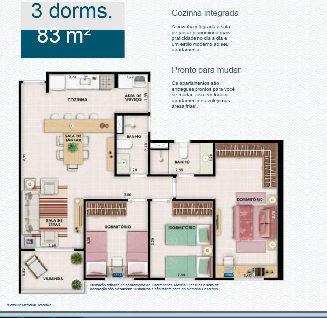 Apto 3 Dorm, Jardim Carlos Gomes, Jundiaí (AP0717) - Foto 10