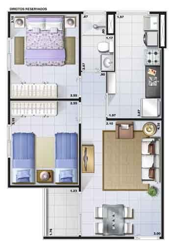 Apartamento de 2 dormitórios em Jardim Santa Carolina (Nova Veneza), Sumaré - SP