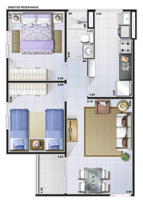 Apartamento de 2 dormitórios à venda em Vila Inema, Hortolândia - SP