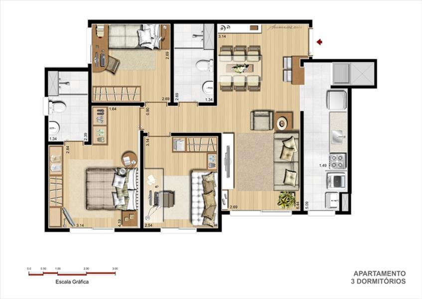 Teresa Helena Assessoria Imobiliária - Apto 3 Dorm - Foto 6