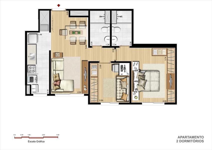 Teresa Helena Assessoria Imobiliária - Apto 3 Dorm - Foto 5