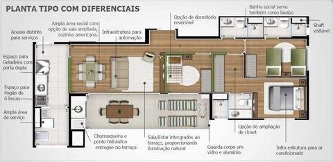 Total Imóveis - Apto 2 Dorm, Vila Anastácio - Foto 3