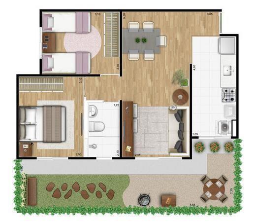 Apartamento residencial à venda, Parque Yolanda (Nova Veneza...