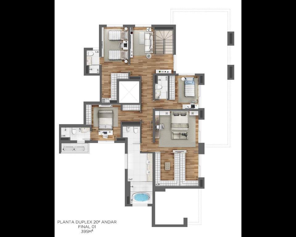 Planta Duplex 20º - final 1 (395m²)