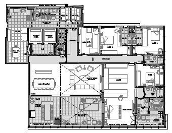 Planta Final 2 andar ímpar  3º ao 27º - 334,5 m²
