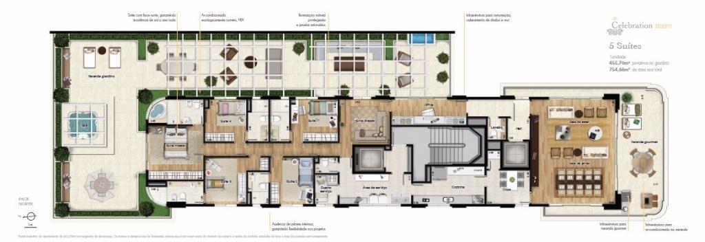 Planta Giardino 455 m²