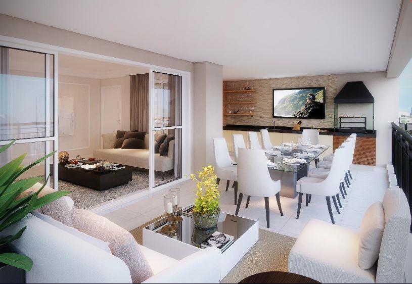 Perspectiva do Terraço Gourmet - 107 m²
