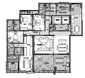 Planta Final 1 andar ímpar 3º ao 27º -275 m²