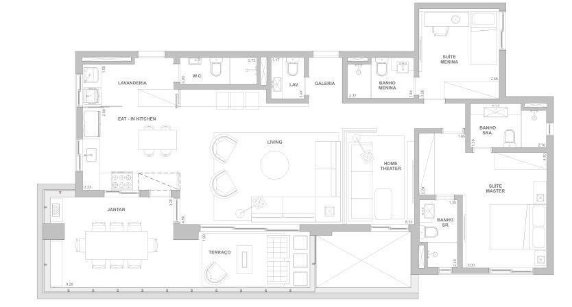 Planta 140 m²
