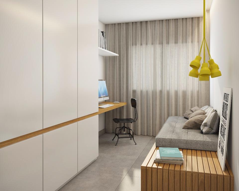 Perspectiva do Dormitório do Apto Tipo