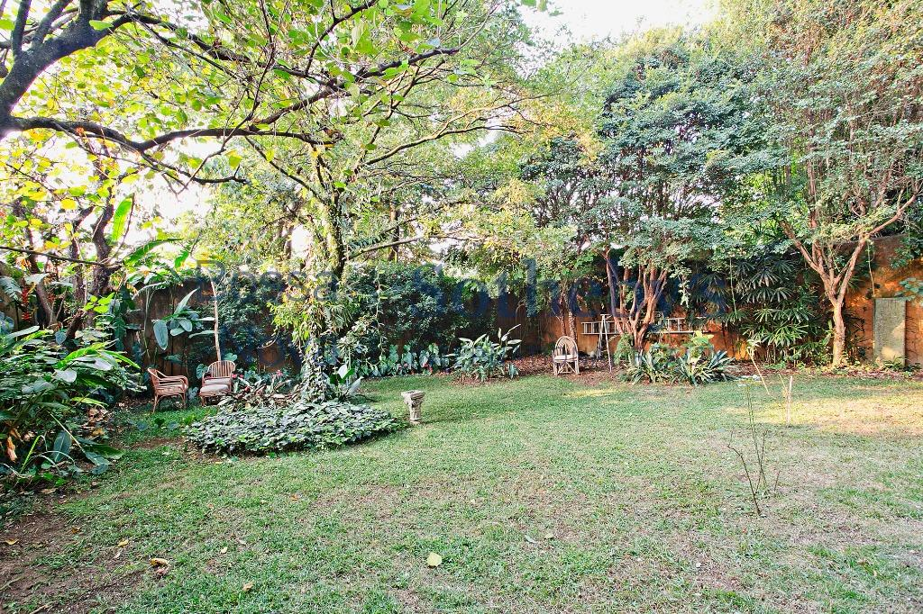 Amplo jardim com árvores frutíferas