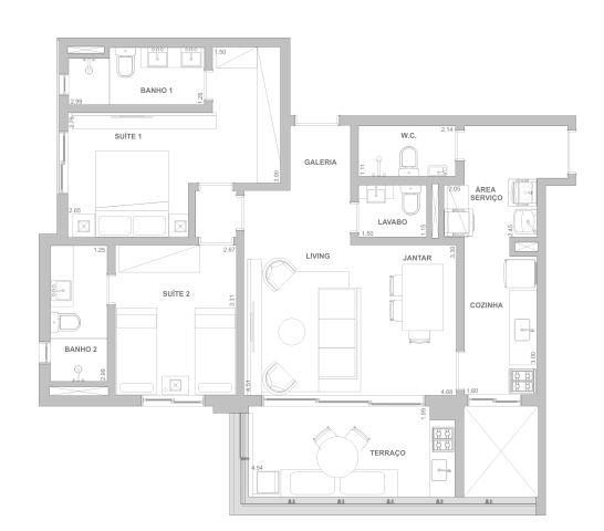 Planta 89 m²