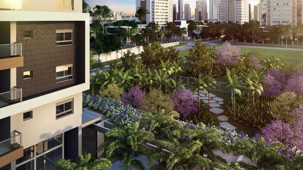 Perspectiva do Detalhe da Fachada e Jardim