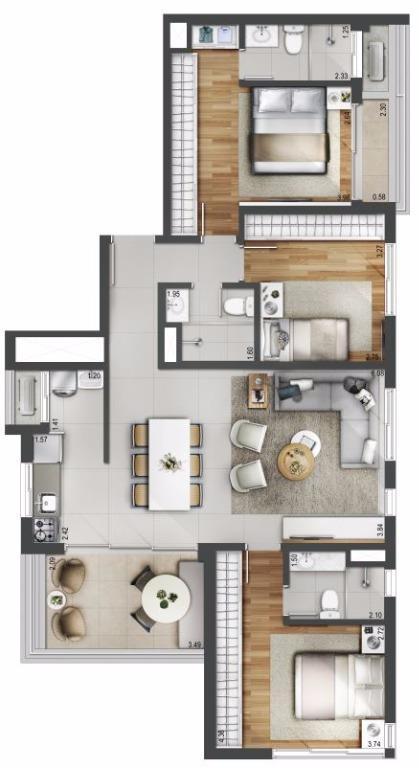 Planta junção - 110 m²