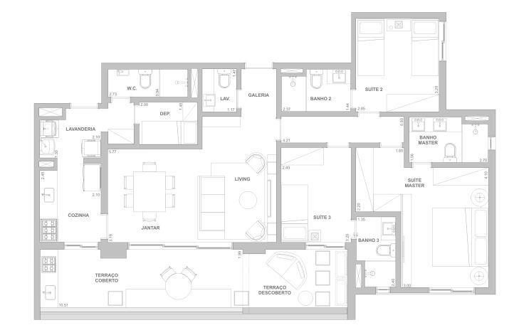 Planta 122 m²