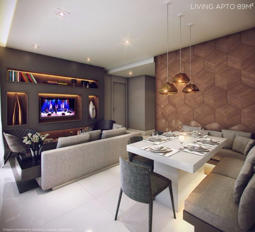 Perspectiva do Living  - 89 m²