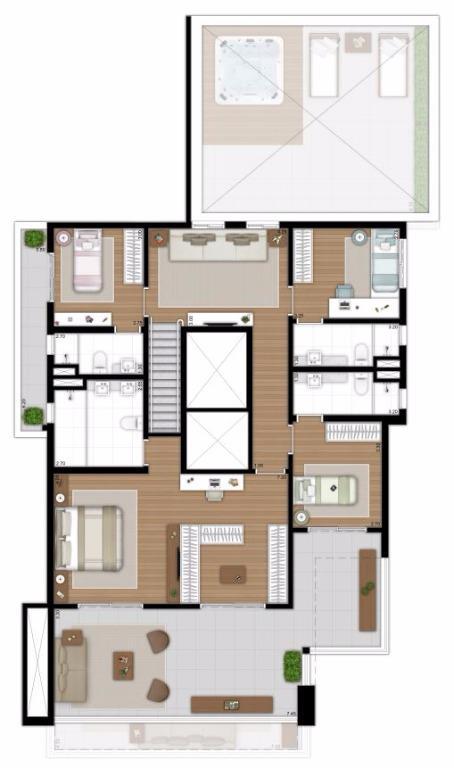 Planta Duplex Superior - 377 m²