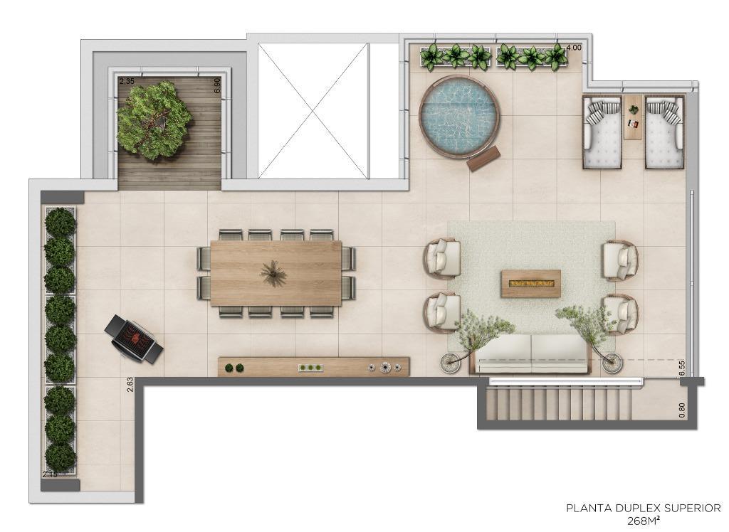 Planta Duplex Superior - 268 m²