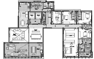 Planta Final 2 andar par 4º ao 26º - 343 m²