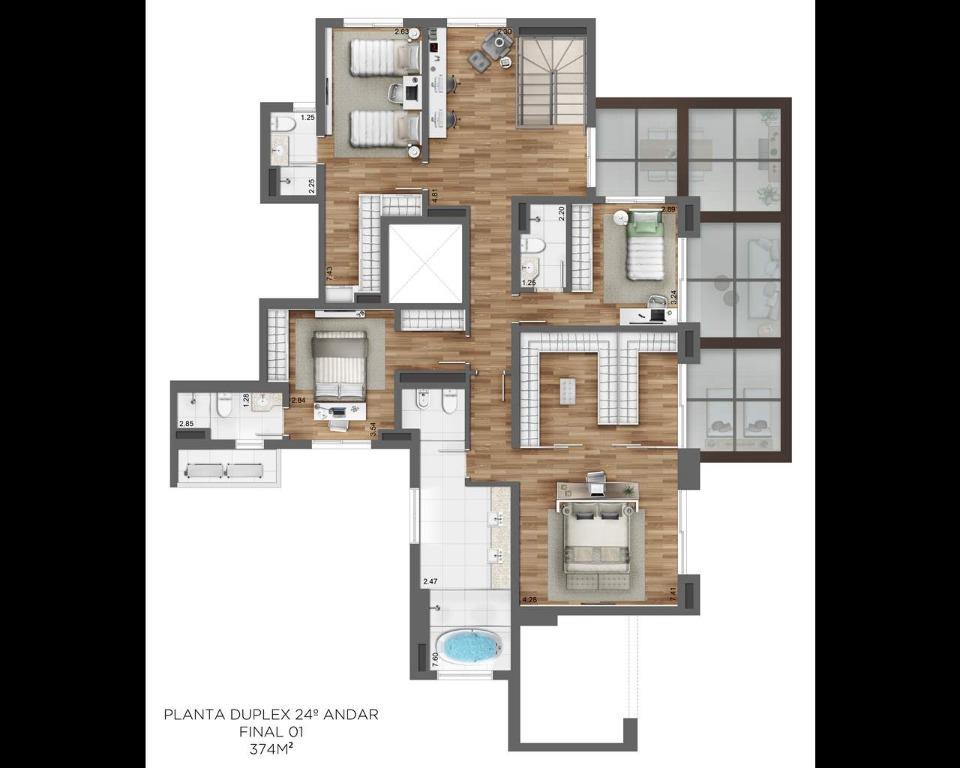 Planta Duplex 24º - final 1 (374m²)