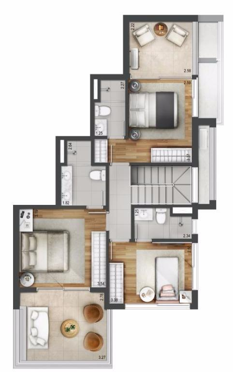 Planta Duplex Superior - 176 m²