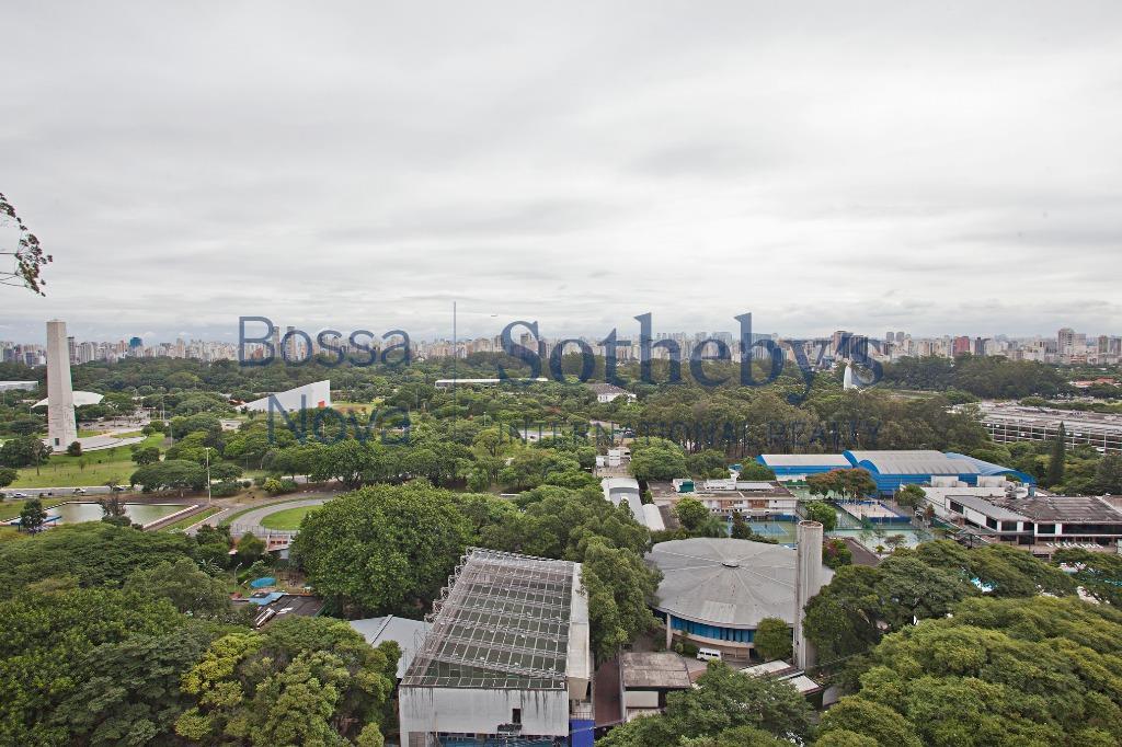 Vista deslumbrante em frente ao Ibirapuera