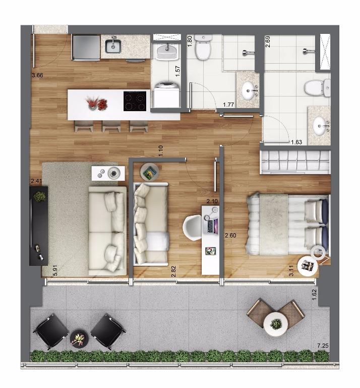 Planta Tipo 61 m²