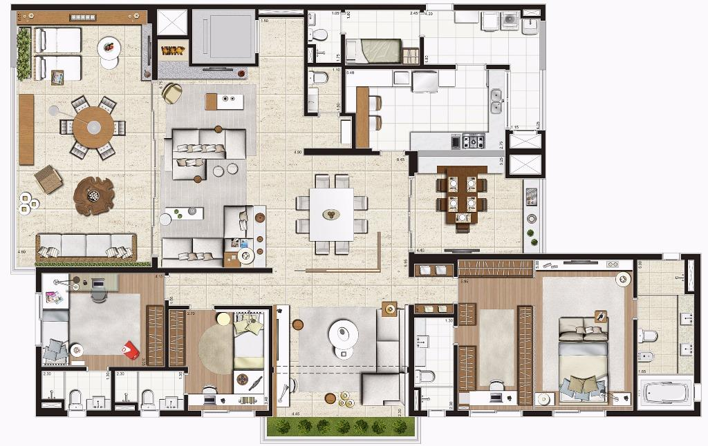 Planta Opção -  275 m²
