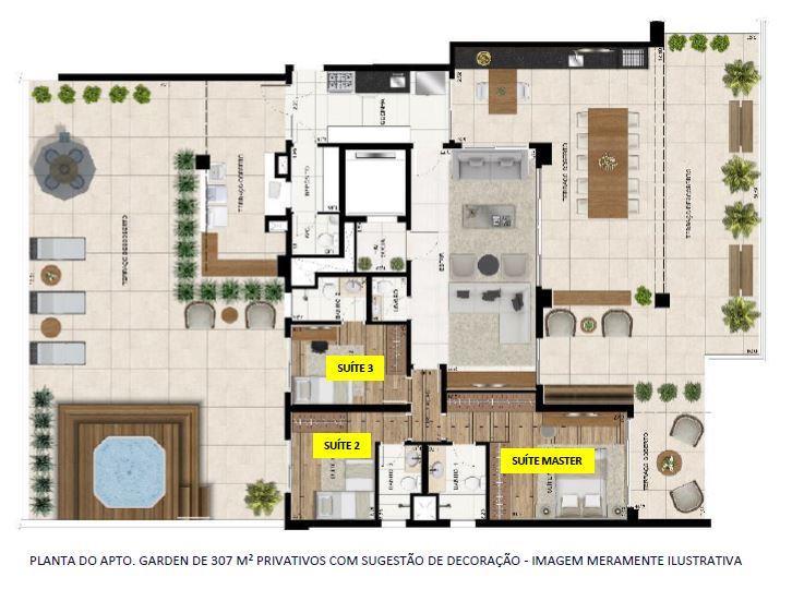 Planta Garden - 307 m²