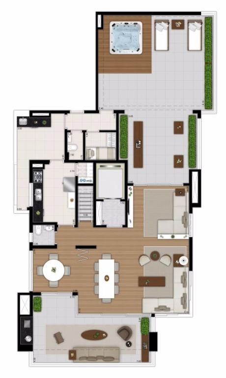Planta Duplex Inferior - 377 m²