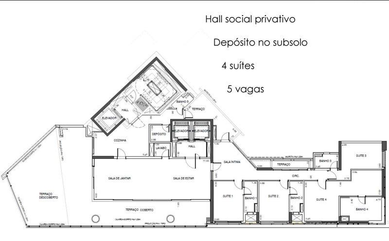 Planta Garden 1º Pavimento - 332 m²