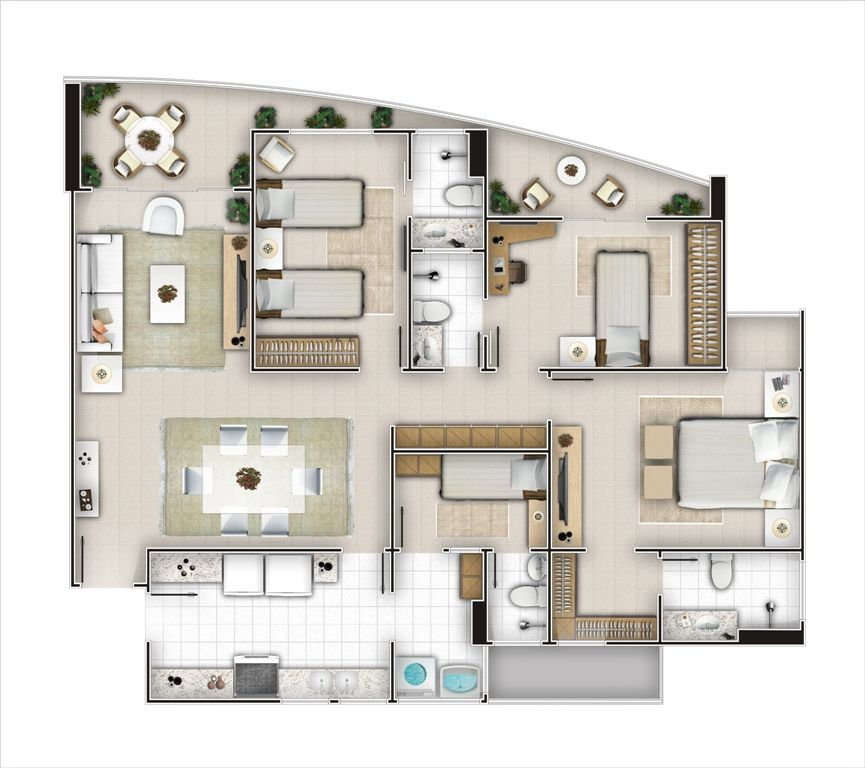 Apartamento à venda, Cocó, Fortaleza - AP2580.