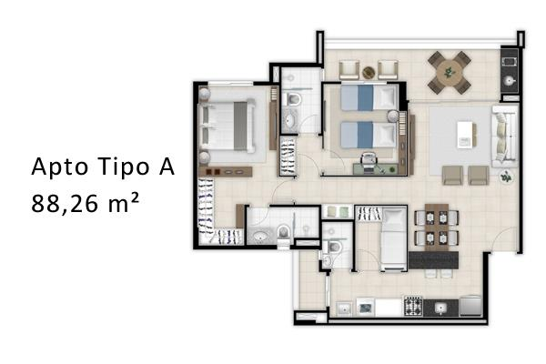 Apartamento residencial à venda, Dunas, Fortaleza.