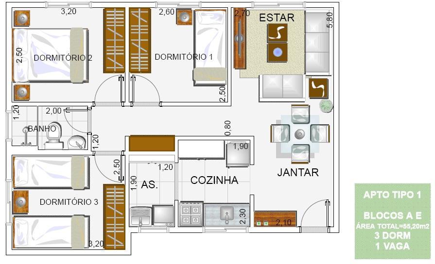 Apartamento residencial à venda, Vila São Joaquim, Cotia.