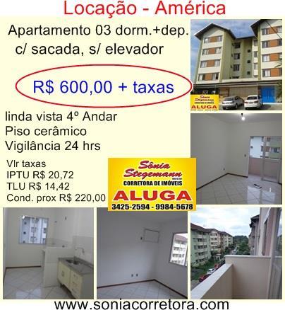 Imagem Apartamento Joinville América R$ 600,00