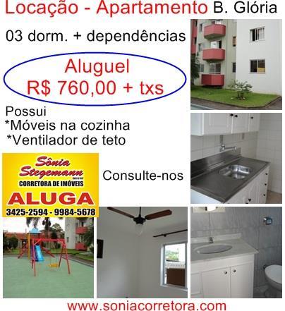 Imagem Apartamento Joinville Glória R$ 760,00