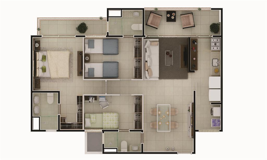 Tamanho Correto De Tv Para Sala ~ Apartamentos do tamanho ideal para viver bem 58m² a 120,02m²
