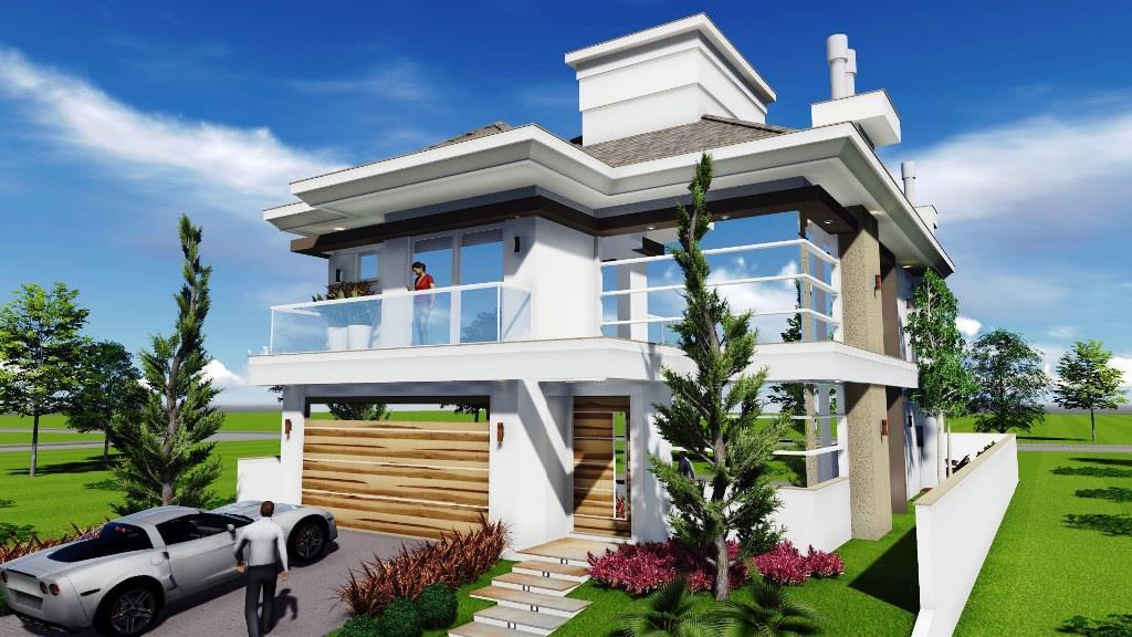 Casa  alto padrão 4 suítes, condomínio no Campeche, Florianó...