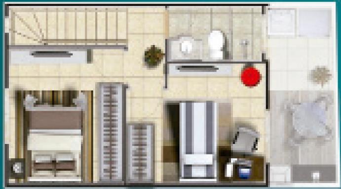 Casa 2 Dorm, Rochdale, Osasco (CA0819) - Foto 3
